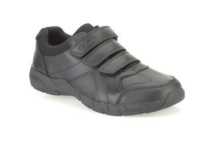 Clarks Air Learn Inf F Fit Black school shoes