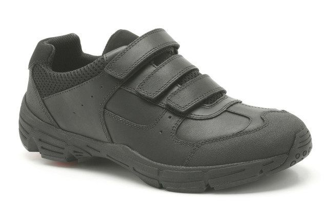 Clarks Air Surrey Bl F Fit Black school shoes
