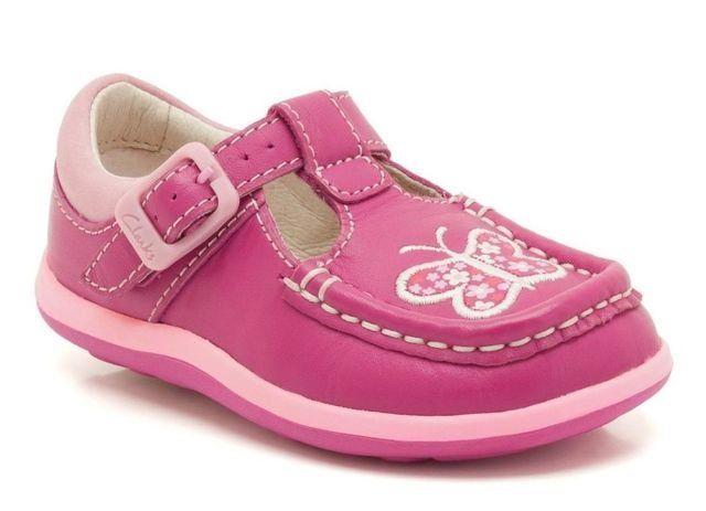 Clarks Alana Star Fst G Fit Fuchsia first shoes