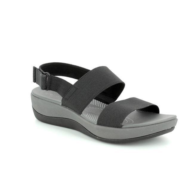 c242a6db58c54e Clarks Tri Clover D Fit Black sandals