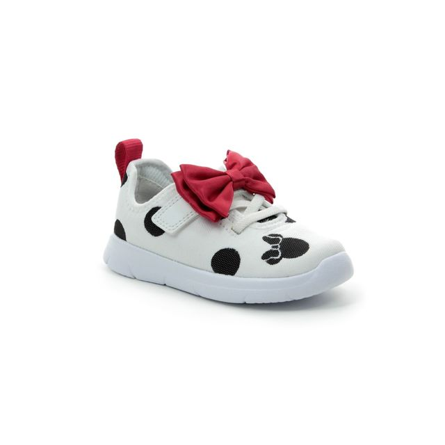 Clarks Trainers - White multi - 424086F ATH BOW TODDLER DISNEY