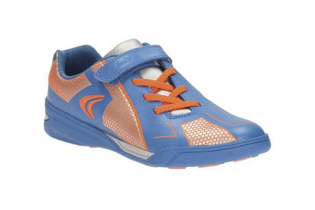 Clarks Award Leap Inf G Fit Blue multi trainers