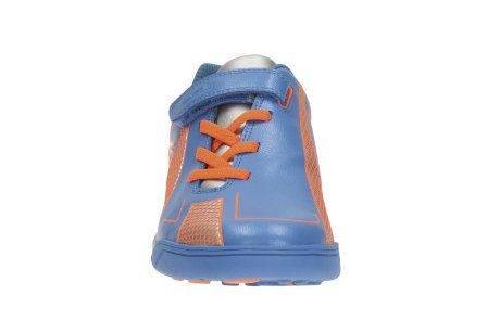 Clarks Award Leap Jnr F Fit Blue multi trainers