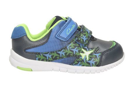 Clarks Azon Zoom Fst F Fit Navy multi first shoes