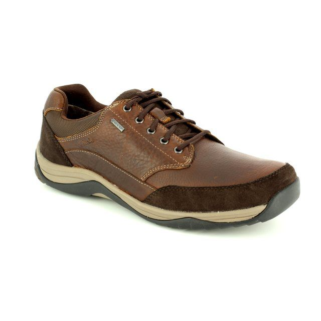Clarks Baystone Go GORE-TEX G Fit Brown multi casual shoes