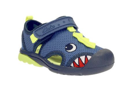 Clarks Beach Curl Fst F Fit Blue first shoes