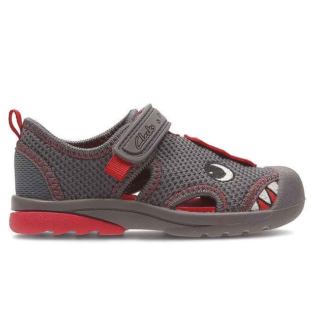 Clarks Beach Curl Fst F Fit Grey multi first shoes
