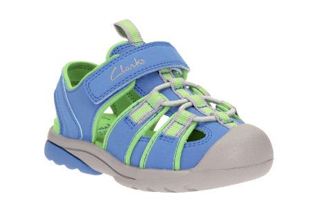 Clarks Beach Mate Inf F Fit Blue sandals