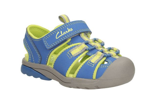 Clarks Beach Tide Fst F Fit Blue multi first shoes