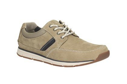 Clarks Beachmont Edge G Fit Taupe casual shoes