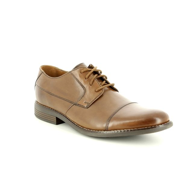 Clarks Formal Shoes - Tan Leather  - 2313/87G BECKEN CAP