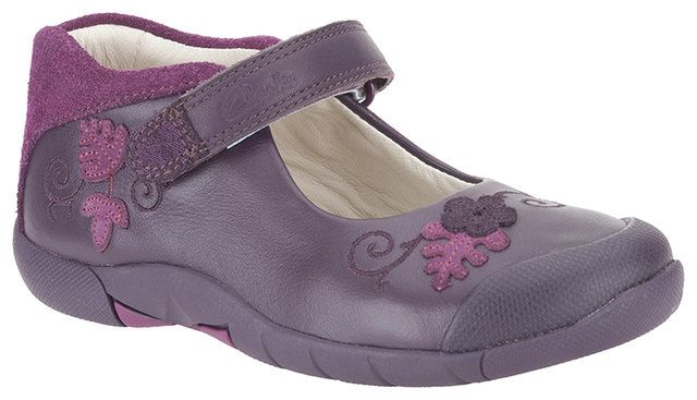 Clarks Binnie Bug Inf F Fit Purple everyday shoes