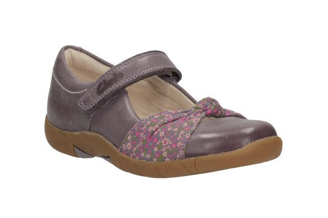 Clarks Everyday Shoes - Purple - 0584/47G BINNIE NIA INF