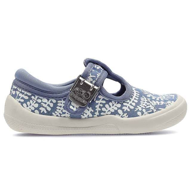 Clarks Briley Bow Fst F Fit Blue multi first shoes