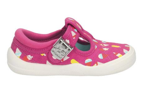 Clarks Briley Bow Fst F Fit Pink first shoes