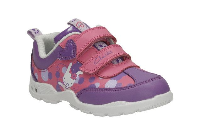 Clarks Brite Bea Fst F Fit Pink multi first shoes