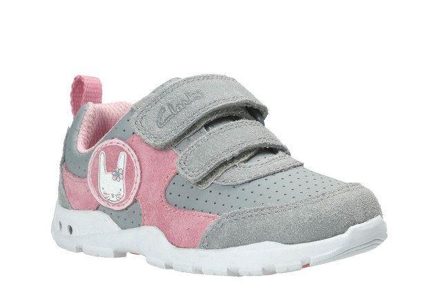 Clarks First Shoes - Grey multi - 2593/96F BRITE WIZZ FST