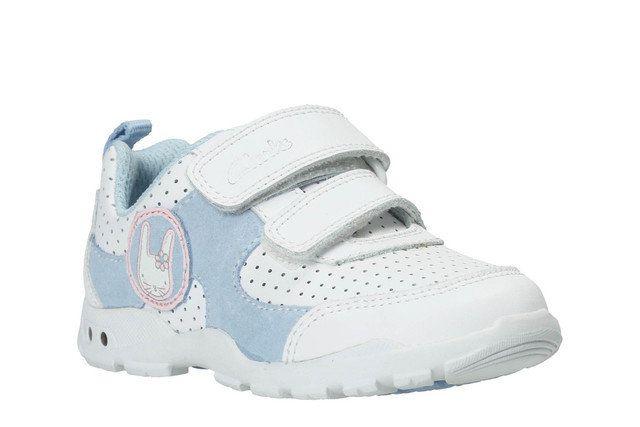 Clarks Brite Wizz Fst F Fit White first shoes