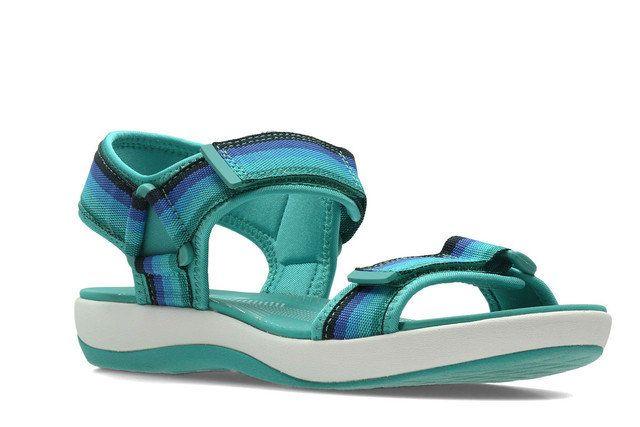 Clarks Brizo Ravena D Fit Blue Walking Sandals