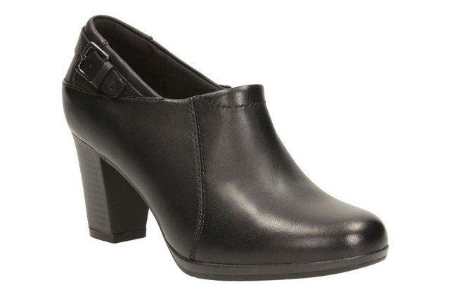 Clarks Brynn Harper D Fit Black shoe-boots