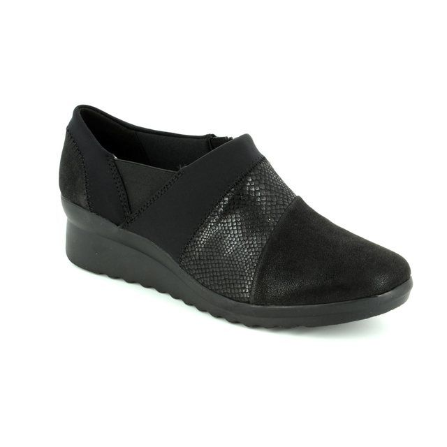 Clarks Comfort Shoes - Black - 2936/94D CADDELL DENALI