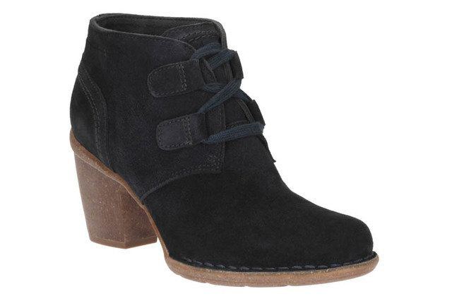 Clarks Ankle Boots - Navy suede - 2183/04D CARLETA LYON