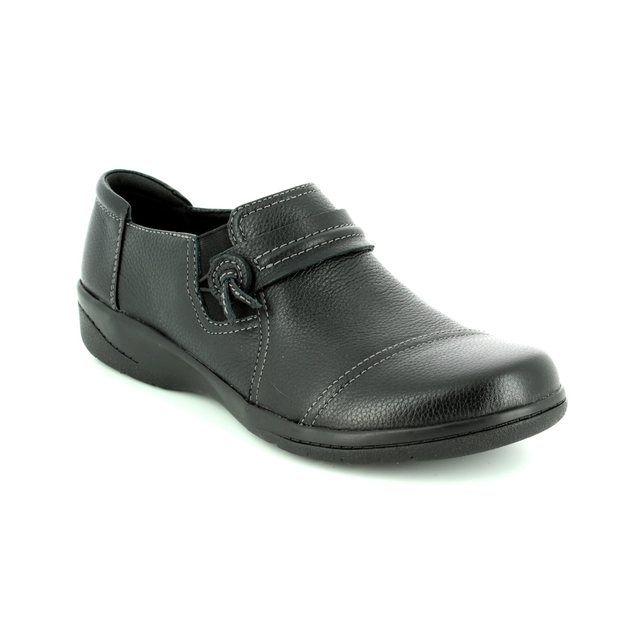 Clarks Cheyn Madi D Fit Black comfort shoes