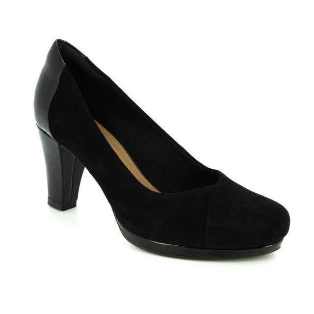 Clarks High-heeled Shoes - Black - 2881/94D CHORUS CAROL