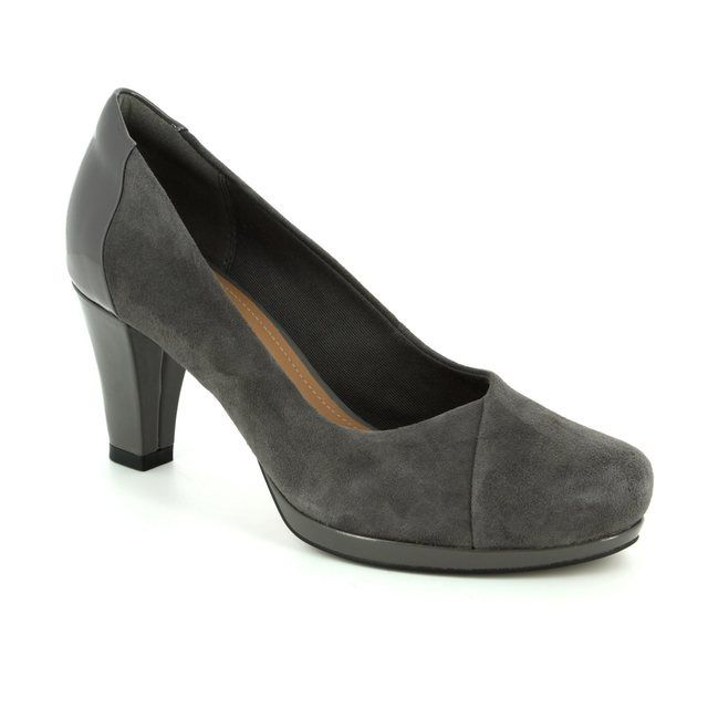 Clarks High-heeled Shoes - Dark Grey - 2882/04D CHORUS CAROL