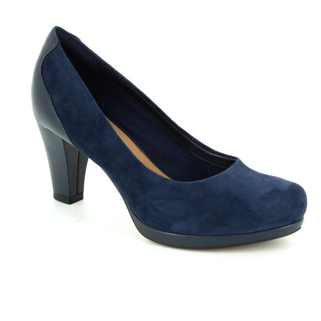 Clarks High-heeled Shoes - Navy suede - 2013/54D CHORUS CHIC