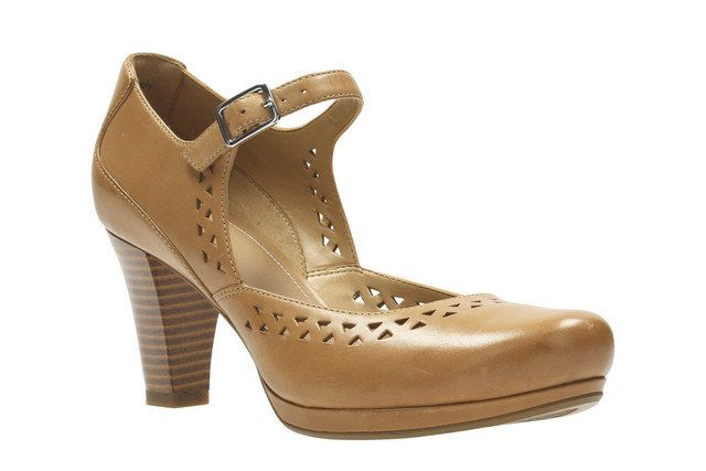 Clarks High-heeled Shoes - Tan - 2421/94D CHORUS CHIME