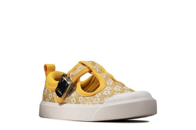 Clarks City Dance T F Fit Yellow trainers