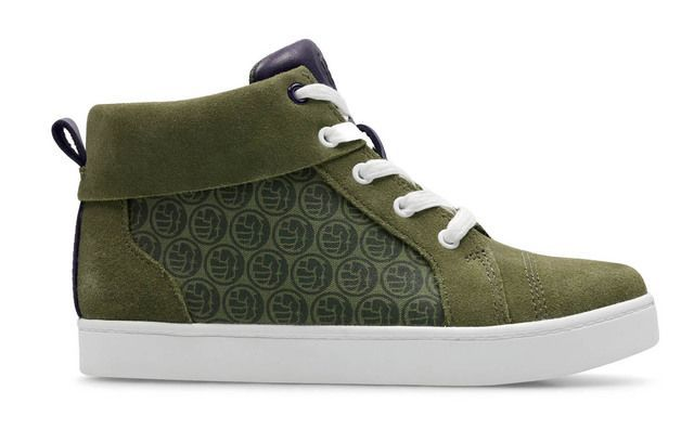 Clarks City Hero G Fit Green Suede trainers