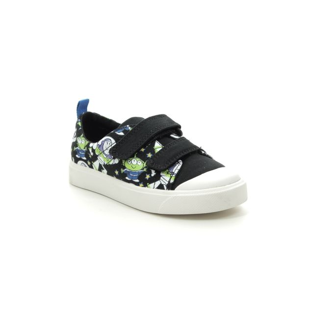 Clarks Toy Story City Team T Disney F Fit Black trainers