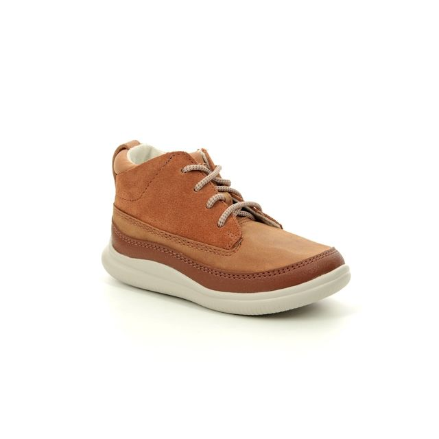 Clarks Cloud Air Fst F Fit Tan Leather Toddler Shoes