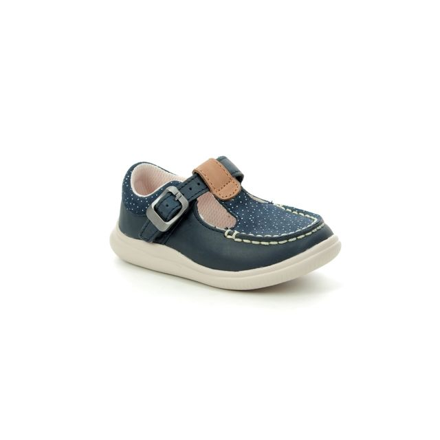 Clarks First Shoes - Navy Leather - 3165/67G CLOUD ROSA