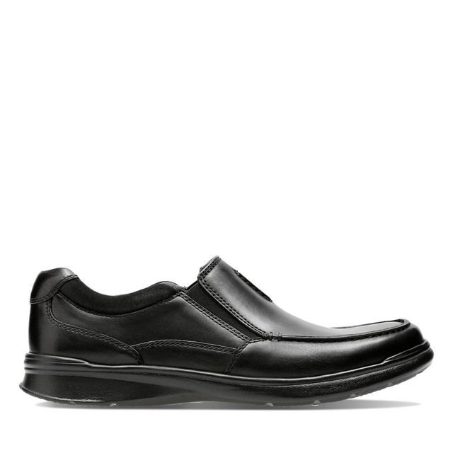 Clarks Casual Shoes - Black leather - 3738/68H COTRELL FREE