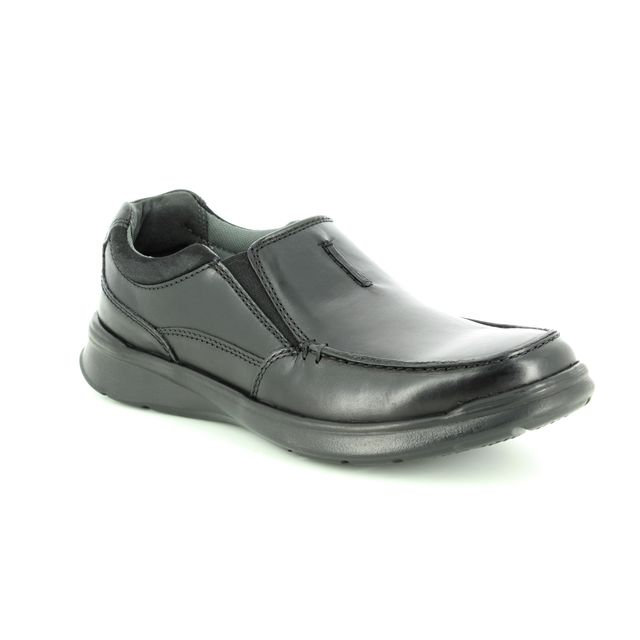 Clarks Cotrell Free H Fit Black leather casual shoes