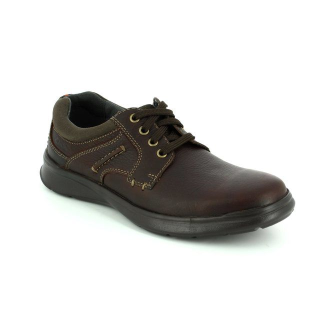 Clarks Cotrell Plain G Fit Brown waxy casual shoes