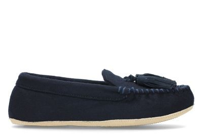Clarks Slippers - Navy - 3086/04D COZILY COMFY