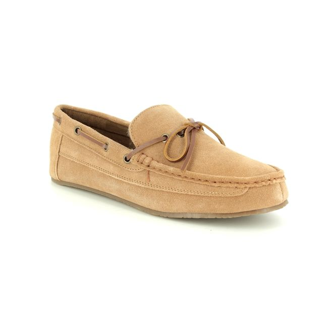 Clarks Slippers - Tan suede - 3086/57G CRACKLING GLOW