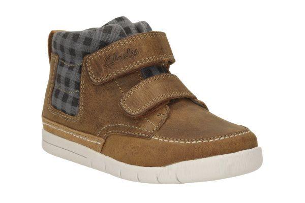 Clarks Crazy Ben Fst F Fit Tan first shoes