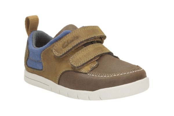 Clarks Crazy Jay Fst F Fit Tan first shoes