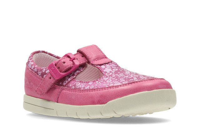 Clarks Crazy Tale Fst G Fit Pink first shoes