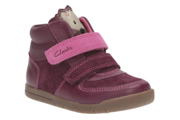 Clarks Crazyirene Fst F Fit Plum first shoes