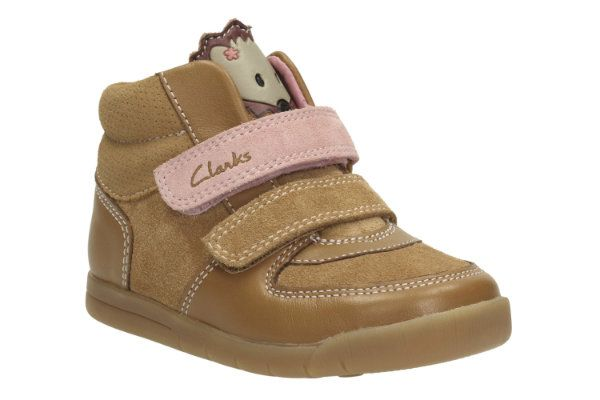 Clarks Crazyirene Fst F Fit Tan first shoes