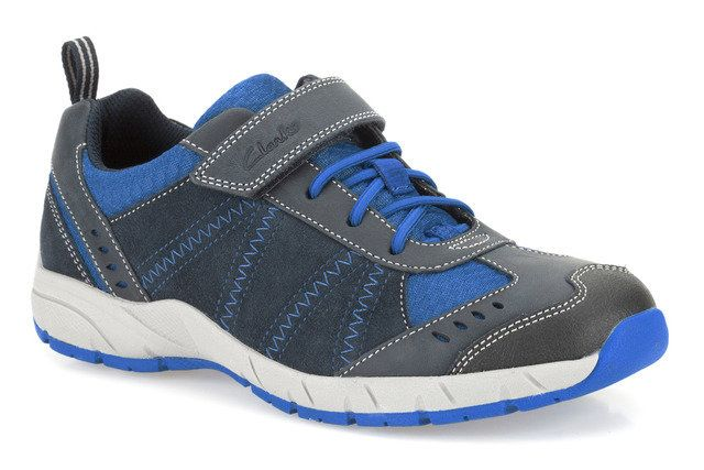 Clarks Cross Dash F Fit Navy multi trainers