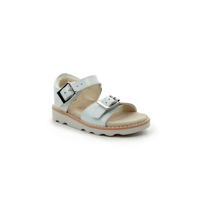 Clarks Crown Bloom T F Fit White sandals
