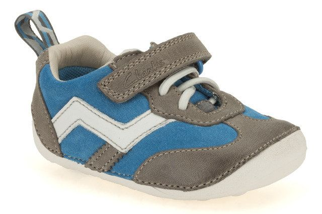Clarks Cruiser Play G Fit Grey muti first shoes