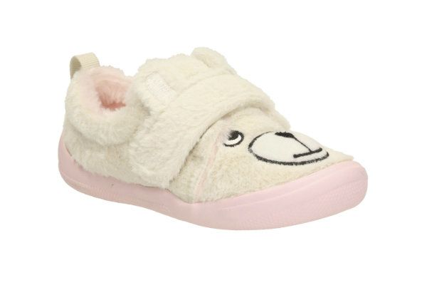 Clarks Cuba Bear Inf F Fit Pink multi slippers